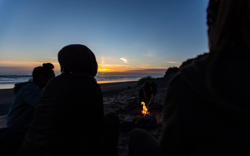 15-things-Outward-Bound-Campfire-beach-sunset