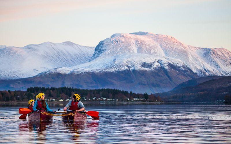 Loch Eil 800x500 canoe by Ben Nevis