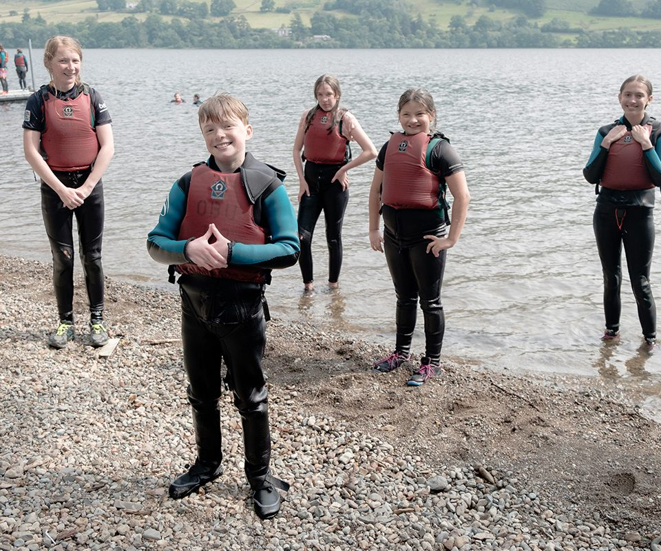 SA ullswater kids on lake shore 960x800