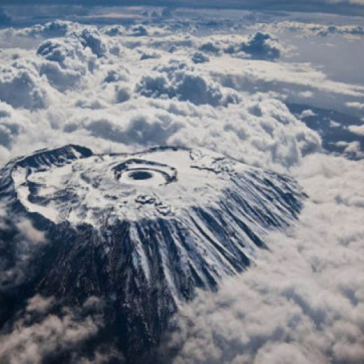 Mount Kilimanjaro from above